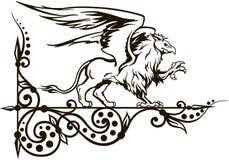 Grifone un'illustrazione animale mitica di vettore Fotografia Stock Libera da Diritti