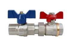 Grifos de agua para el abastecimiento de agua casero o los sistemas hearting Fotografía de archivo libre de regalías