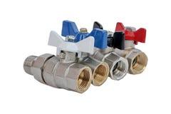 Grifos de agua para el abastecimiento de agua casero o los sistemas hearting Fotos de archivo libres de regalías