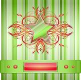 Grigio - fondo verde con la stella. Fotografie Stock Libere da Diritti