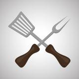 Grigli la progettazione, i rifornimenti ed il concetto del menu, vettore editabile Immagine Stock