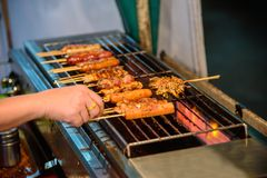 Grigli la salsa con il pepe di Sichuan fotografia stock libera da diritti