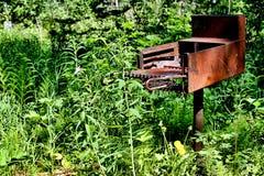 Griglia abbandonata di picnic Immagine Stock