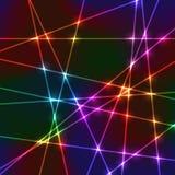 Griglia al neon casuale del laser Fotografie Stock Libere da Diritti