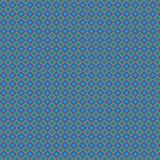Griglia alla moda variopinta Mesh Pattern Background del retro estratto blu del plaid Illustrazione di Stock