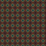 Griglia alla moda variopinta Mesh Pattern Background del retro estratto del plaid Illustrazione di Stock