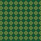 Griglia alla moda variopinta Mesh Pattern Background del retro estratto verde del plaid Illustrazione di Stock