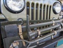 Griglia anteriore di vecchia jeep dell'esercito Immagini Stock Libere da Diritti
