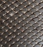 Griglia arrugginita del metallo come fondo Struttura Immagini Stock