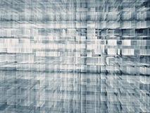 Griglia astratta di tecnologia - immagine digitalmente generata Fotografia Stock Libera da Diritti