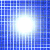 Griglia blu con indicatore luminoso Immagine Stock