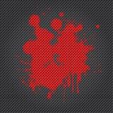 Griglia con la macchia della vernice Fotografia Stock Libera da Diritti