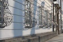 Griglia curva della finestra a Salisburgo Immagini Stock