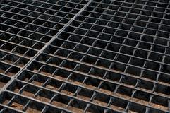Griglia d'acciaio Fotografia Stock