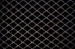 Griglia d'acciaio astratta dal radiatore dell'automobile, fondo nero Fotografie Stock Libere da Diritti