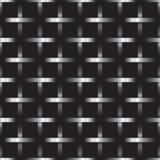 Griglia d'argento del metallo su fondo nero Fotografia Stock Libera da Diritti