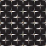 Griglia d'argento del metallo su fondo nero Fotografia Stock