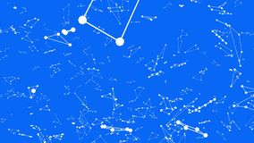 Griglia 3D o maglia d'ondeggiamento blu semplice astratta come paesaggio di fantascienza Ambiente di vibrazione geometrico blu o  royalty illustrazione gratis