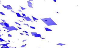 Griglia 3D o maglia d'ondeggiamento viola semplice astratta come ambiente brillante Ambiente di vibrazione geometrico viola o royalty illustrazione gratis