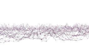 Griglia 3D o maglia d'ondeggiamento viola semplice astratta come fondo semplice Ambiente di vibrazione geometrico viola o palpita royalty illustrazione gratis