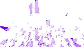 Griglia 3D o maglia d'ondeggiamento viola semplice astratta come fondo corporativo Ambiente di vibrazione geometrico viola o illustrazione di stock
