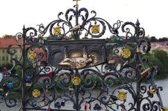 Griglia decorativa del ferro Fotografie Stock