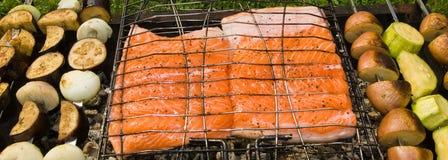 griglia dei pesci Fotografie Stock Libere da Diritti