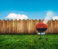Griglia del barbecue del bollitore Fotografia Stock