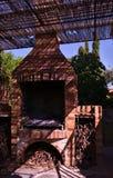 Griglia del barbecue fatta dei mattoni fotografia stock libera da diritti