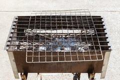 Griglia del barbecue vecchia Immagine Stock