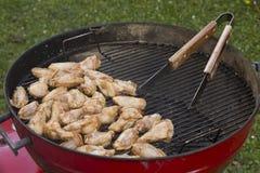 Griglia del BBQ del pollo Fotografia Stock