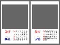 Griglia del calendario immagini stock libere da diritti