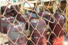 Griglia del carro armato di gas Fotografia Stock Libera da Diritti
