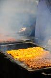 griglia del cookout del carbone di legna Immagine Stock