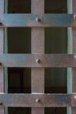 Griglia del ferro sulla finestra della cella Immagine Stock