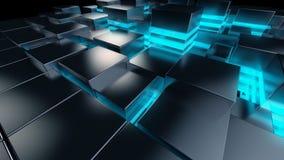 Griglia del fondo di tecnologia Immagine Stock