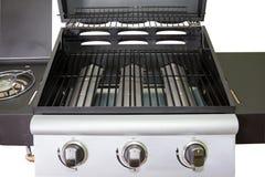 Griglia del gas del primo piano per il barbecue Fotografia Stock Libera da Diritti