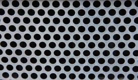 Griglia del metallo con i fori Fotografie Stock Libere da Diritti