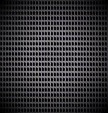 Griglia del metallo con i fori rettangolari Fotografie Stock Libere da Diritti
