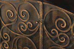 Griglia del metallo del camino Fotografia Stock