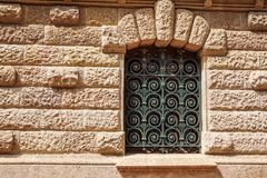 Griglia del metallo per la finestra Barre di sicurezza Barre di sicurezza del ferro della finestra della Camera Barre di sicurezz Immagini Stock Libere da Diritti