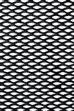Griglia del metallo sopra priorità bassa bianca Fotografia Stock Libera da Diritti