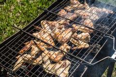 Griglia del pollo con le verdure Fotografia Stock Libera da Diritti