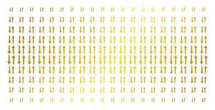 Griglia del semitono dell'oro delle frecce di scambio Immagine Stock Libera da Diritti