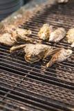 Griglia dell'ostrica Fotografie Stock