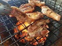 Griglia della carne di maiale Immagini Stock