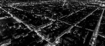 Griglia della città di notte Fotografia Stock