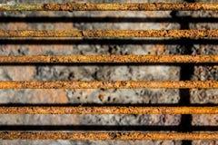 Griglia della griglia con ruggine Fotografia Stock Libera da Diritti