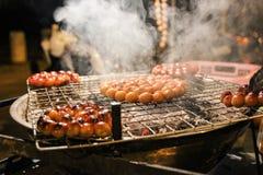 Griglia della salsiccia Immagini Stock