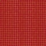 Griglia della stagnola di oro sul fondo senza cuciture rosso del modello di vettore Fondo elegante di festa Forme quadrate del qu illustrazione di stock